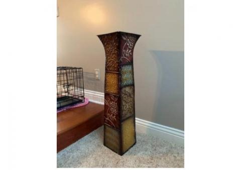 Modern metal vase